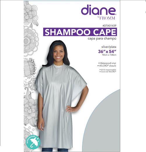 "Diane Navy Shampoo Cape 36""x 54"" Vinyl self grip Closure #DTA01439"