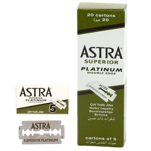 Astra Razor Blades Superior Stainless Double Edge - 100 Blades