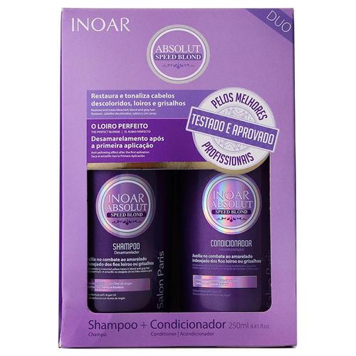 Inoar Absolute Speed Blonde Duo Kit Shampoo + Conditioner 250ml