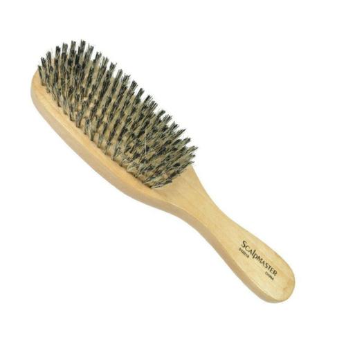 Wave brush 9 inch natural wood boar bristle