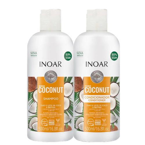 Inoar Coconut Shampoo + Conditioner Combo 500ml