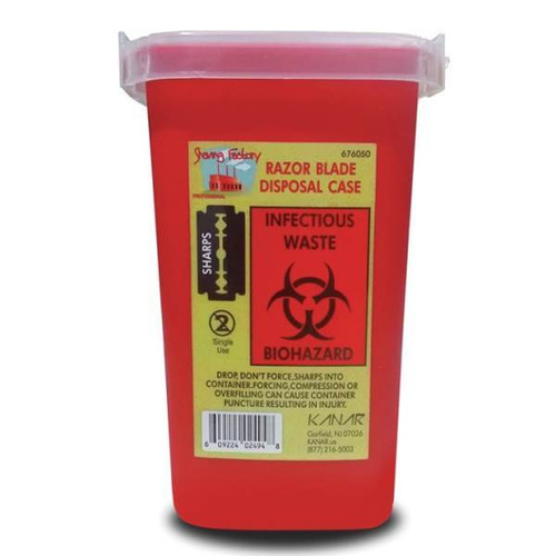 """Razor Blade Used Sharps Container """"Red"""""""