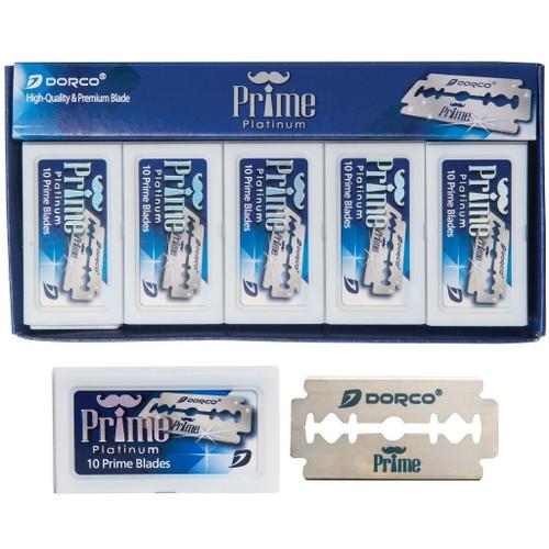 Dorco Prime Platinum Double Edge Blades - 100 Blades #STP-301