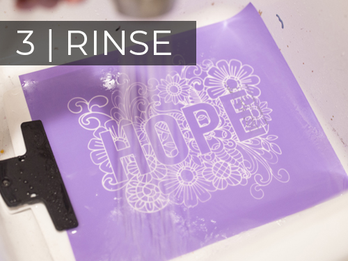 ikonart custom stencil making kit rinse