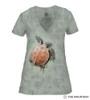 Sea Turtle Climb Women's Tri-Blend V-Neck T-Shirt