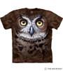 Great Horned Owl Head T-Shirt