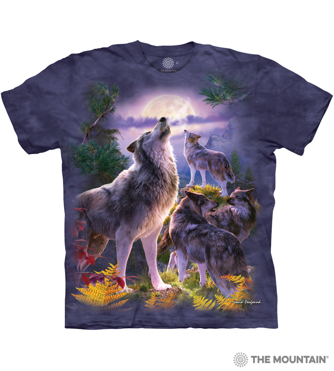 6d4a2110bceda The Mountain Adult Unisex T-Shirt - Wolfpack Moon