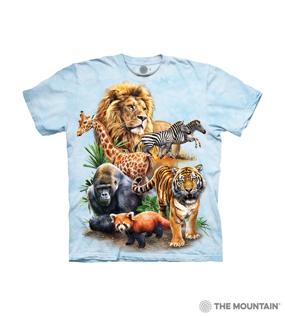 The Mountain Kids' T Shirt Zoo Collage