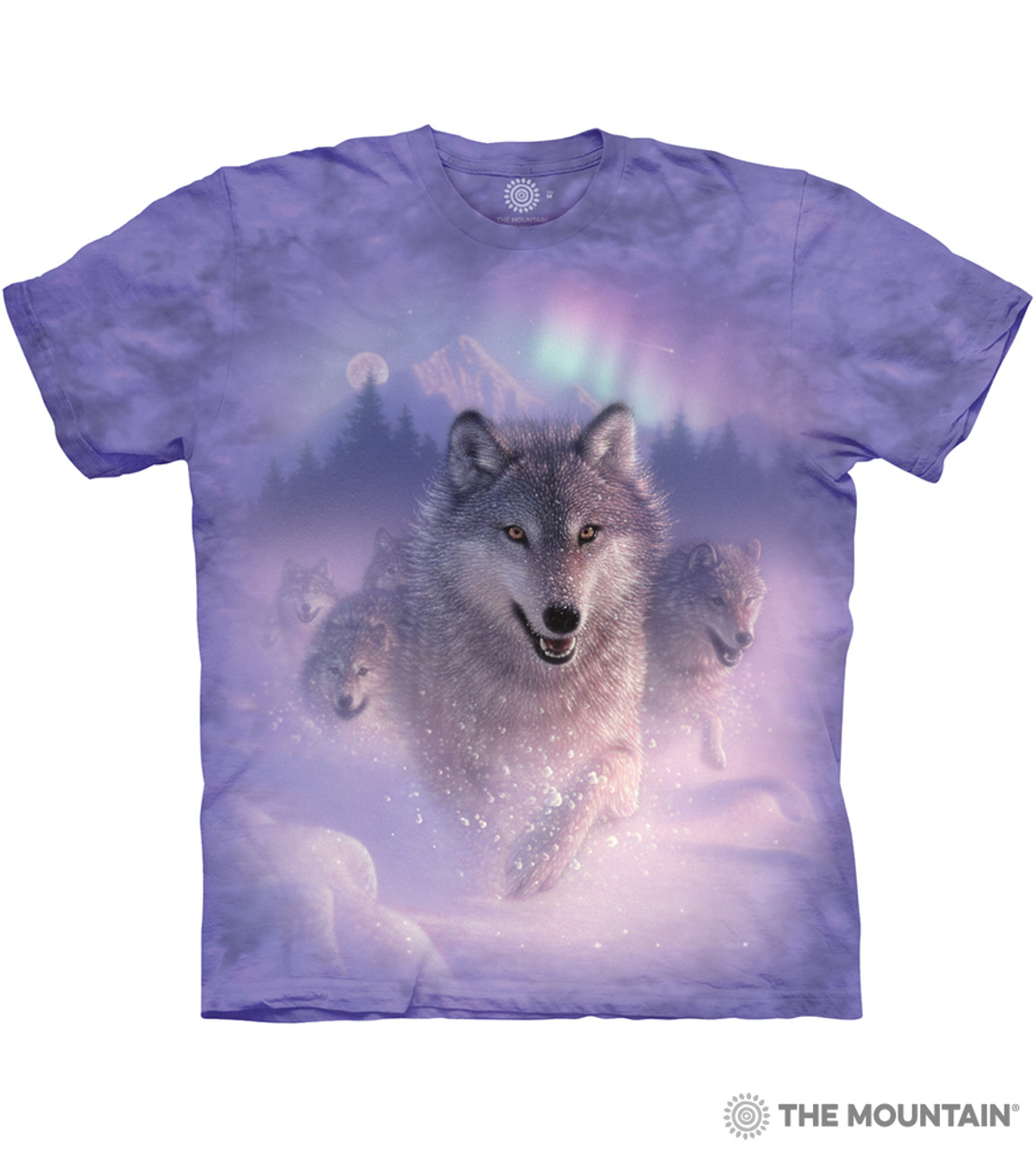 501310a94a5f Northern Lights - The Mountain Adult Unisex T-Shirt