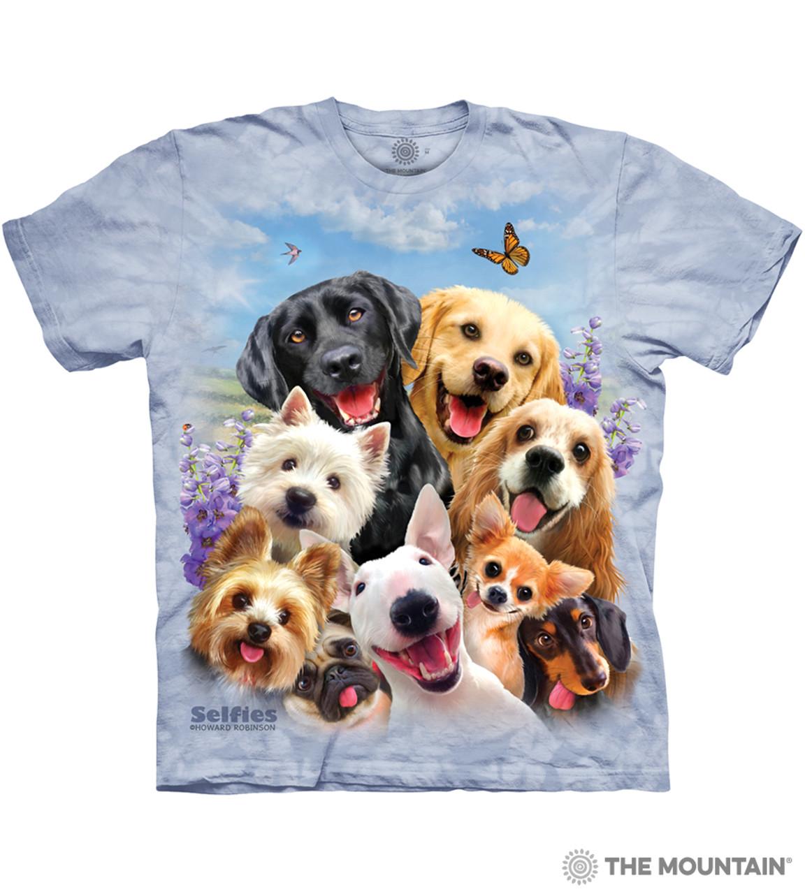 1d7c44e44a5b Dogs Selfie - The Mountain Adult Unisex T-Shirt