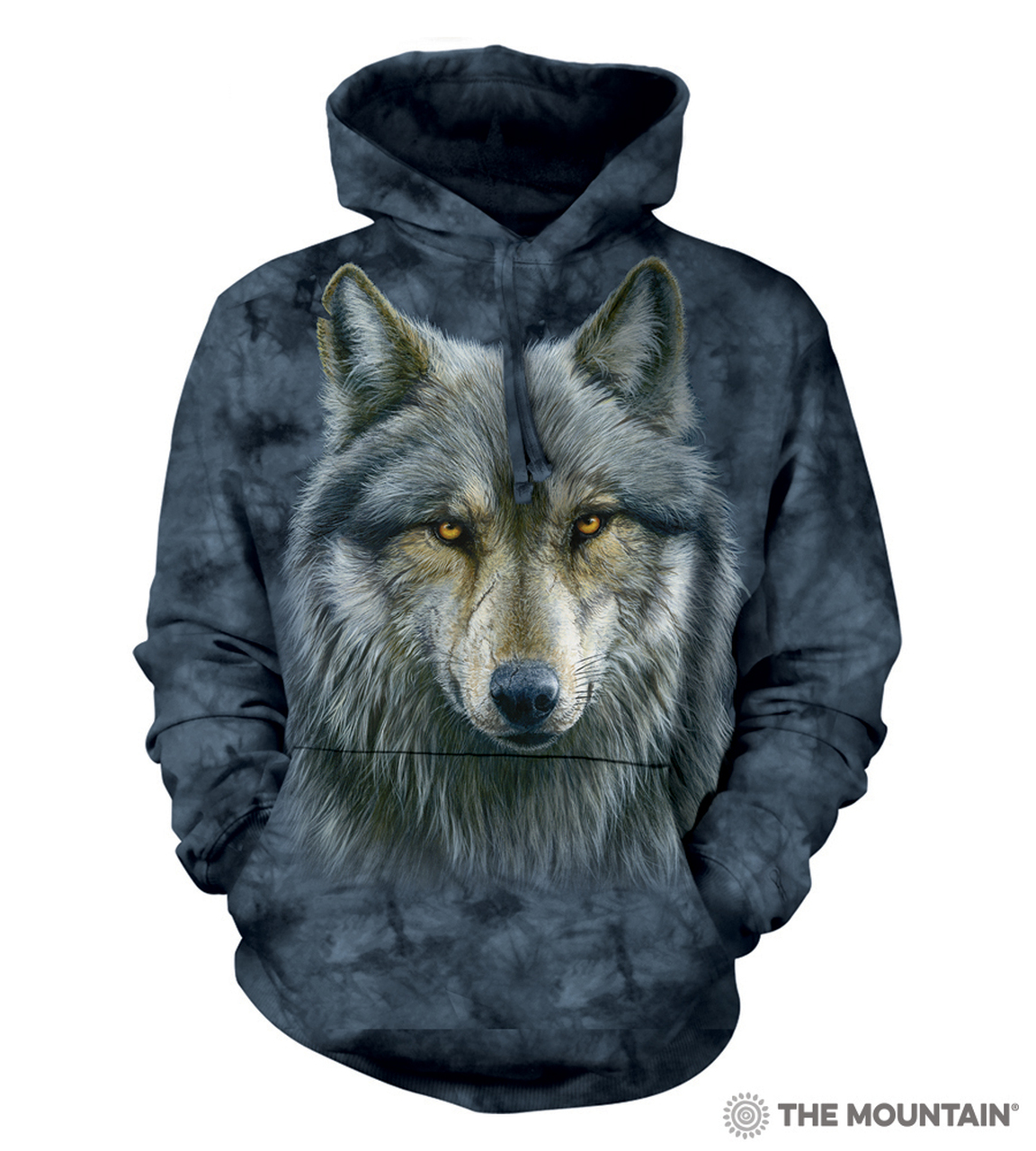 The Mountain Adult Unisex Hoodie Sweatshirt - Warrior Wolf