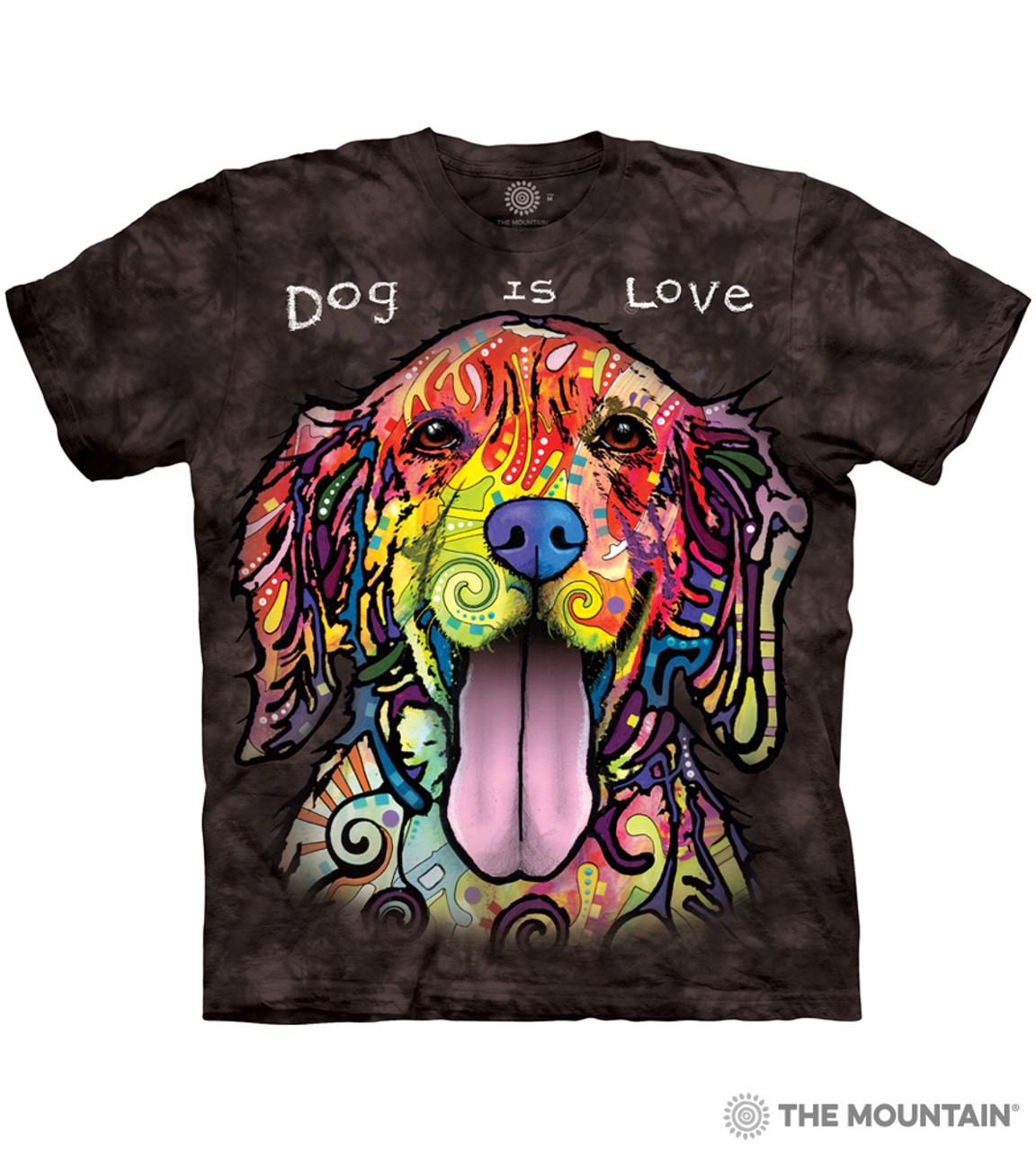 "The Mountain Damen T-Shirt Tri-Blend /""Dog Is Love/"""
