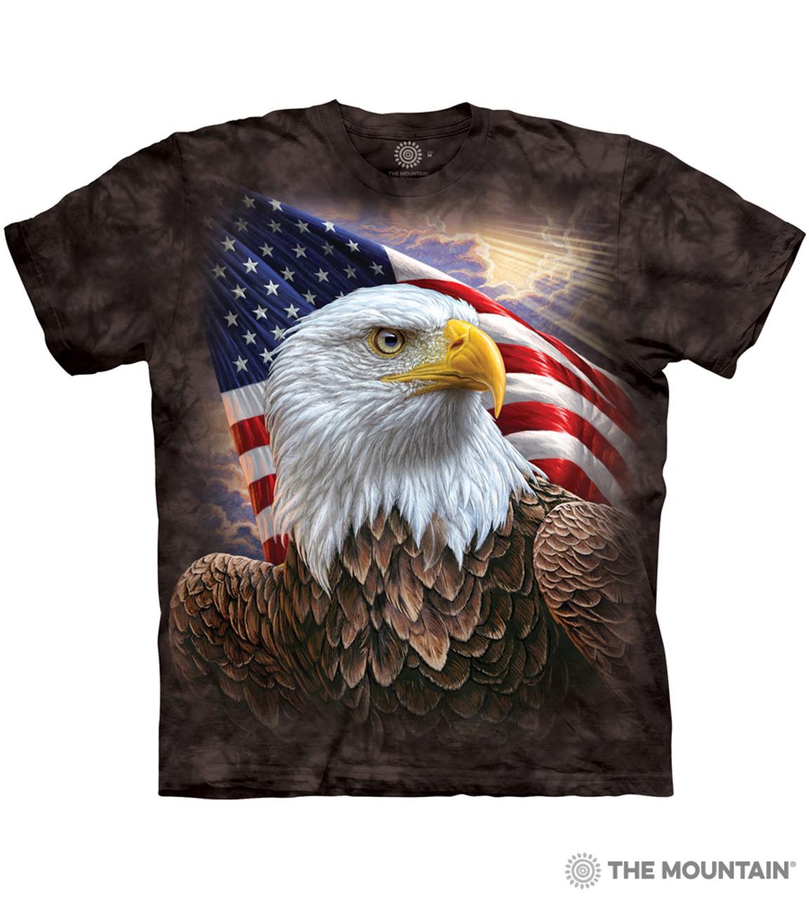 New The Mountain Bald Eagle Face T Shirt