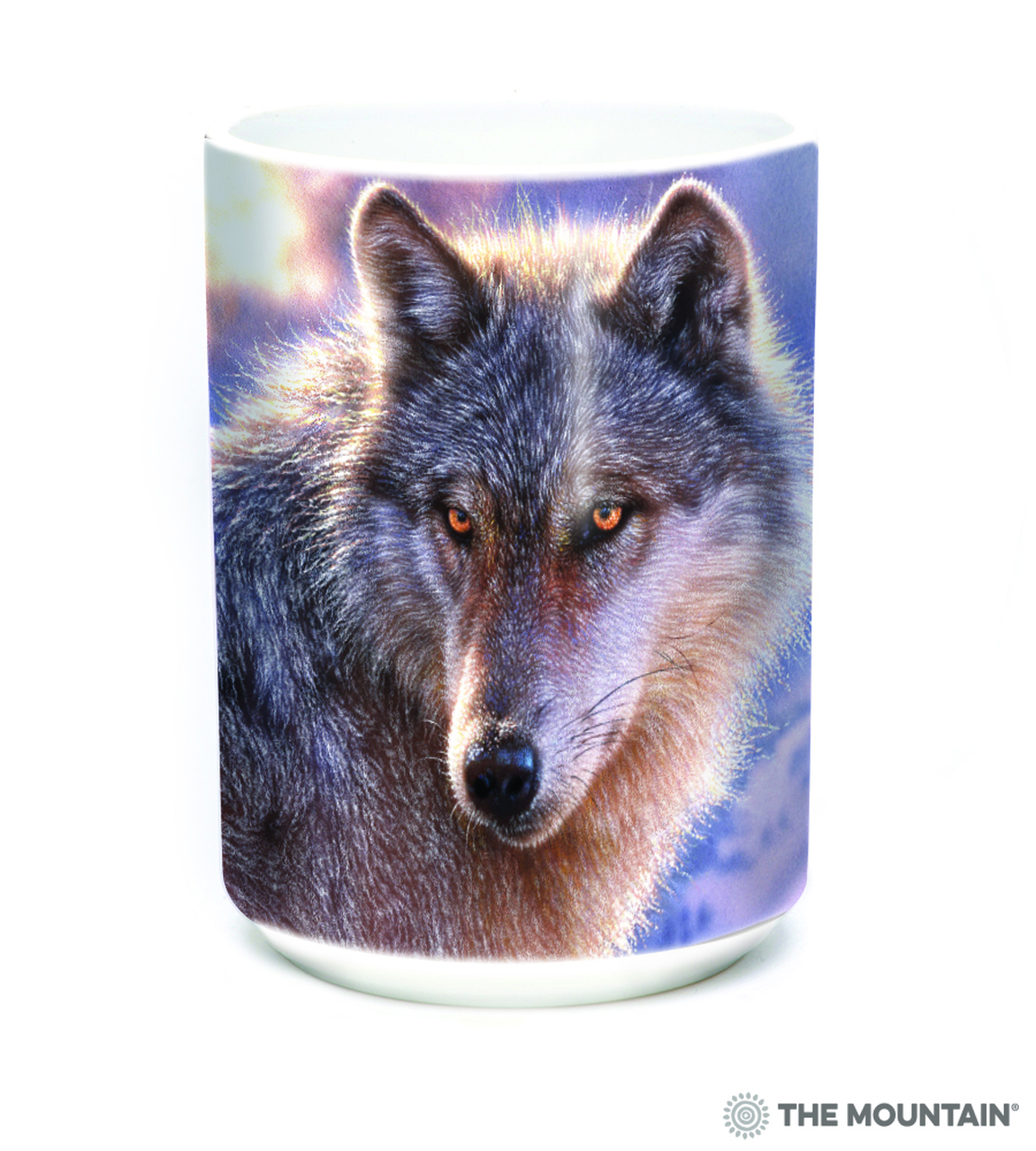 The Mountain 15 Oz Ceramic Mug Adventure Wolf