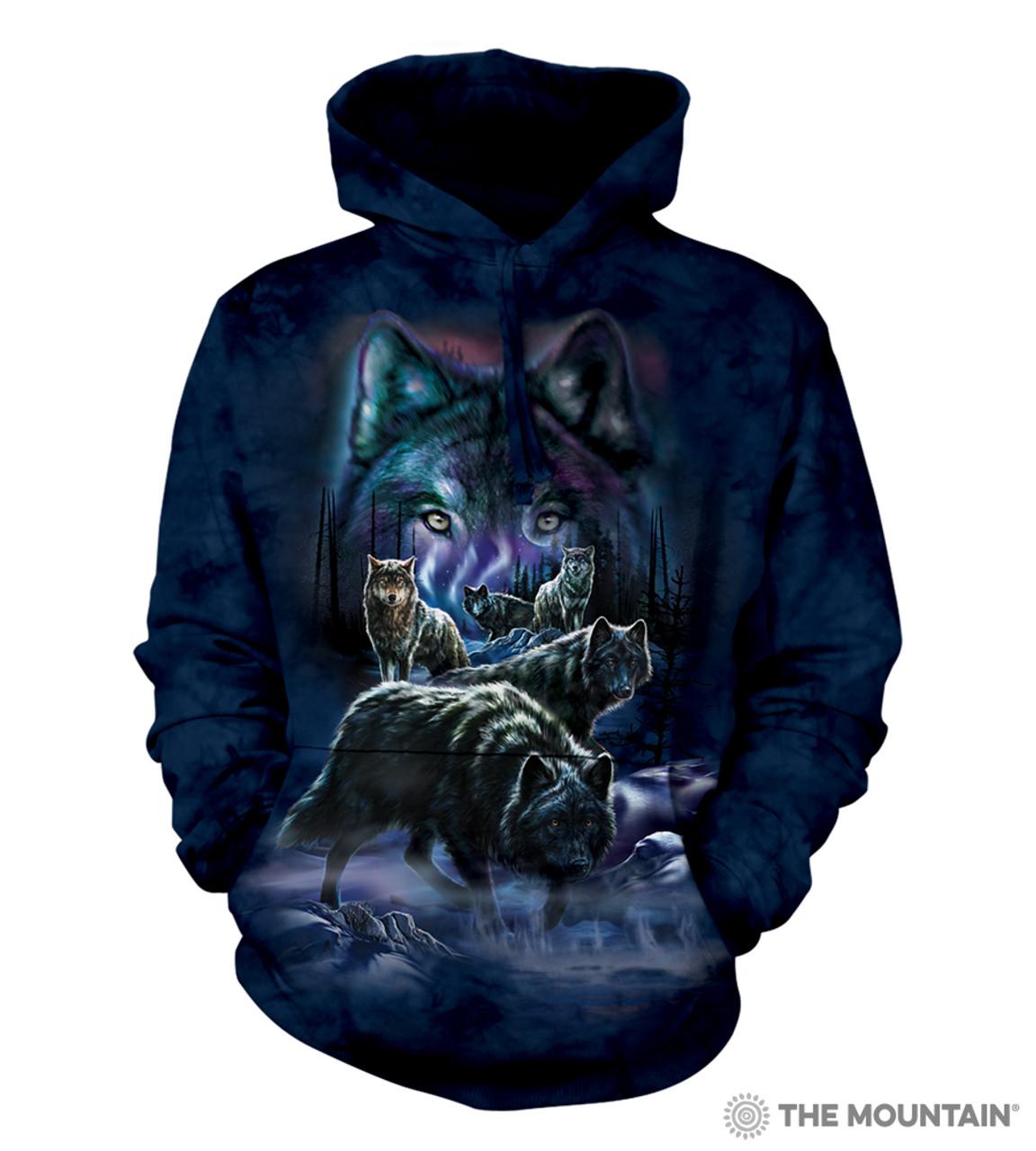 Wolf Pack The Mountain Adult Unisex Hoodie Sweatshirt