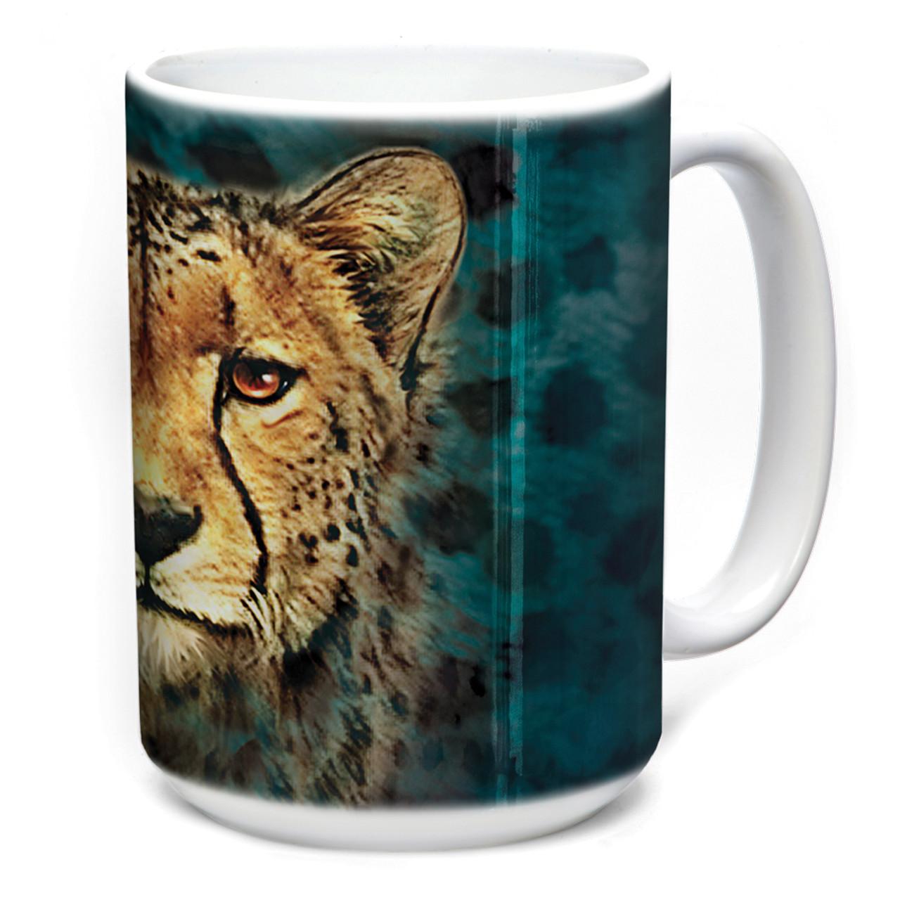 Tami Alba Cheetah Portrait 15 Oz Ceramic Mug The Mountain