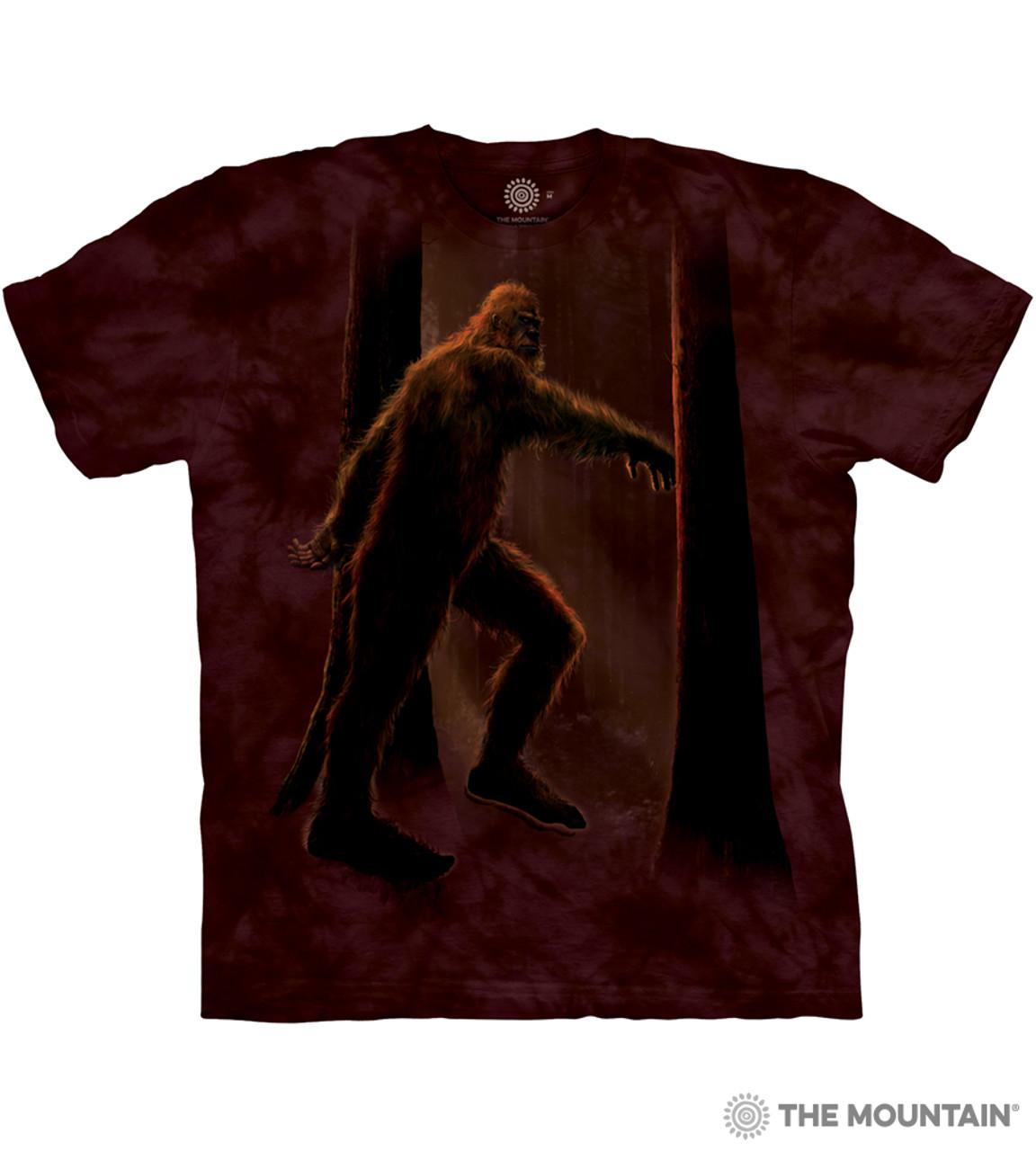 The Mountain Bigfoot Sasquatch Woods Moonlight T-Shirt Adult Unisex Sizes S-3XL