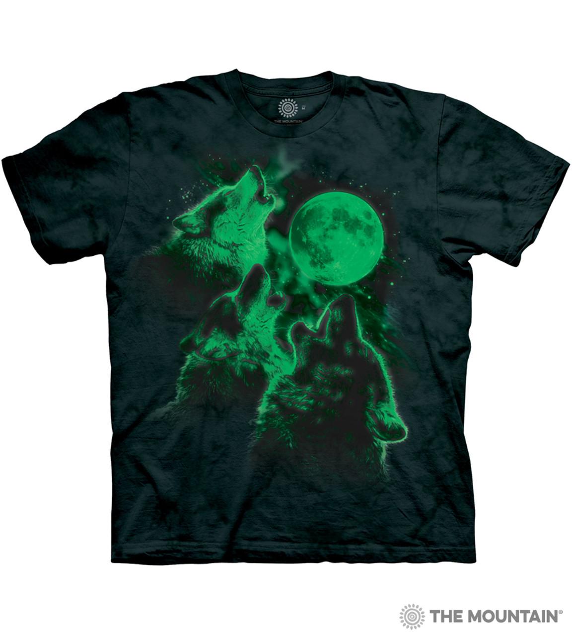 832e667fdd672 The Mountain Adult Unisex T-Shirt - Three Wolf Moon Glow