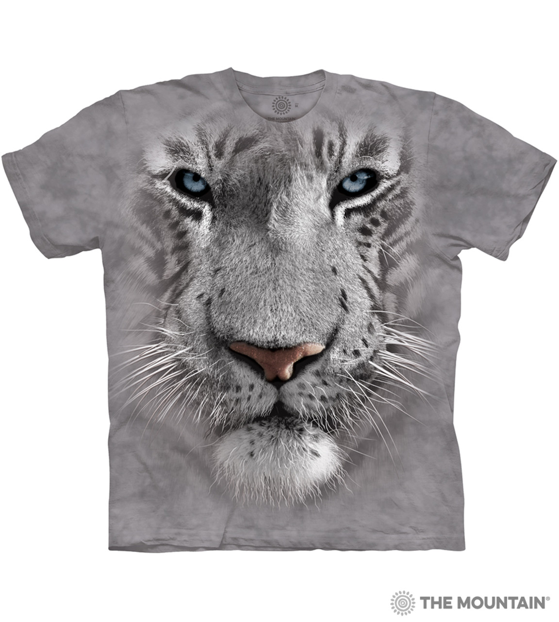 6873ecf825eb White Tiger Face - The Mountain Adult Unisex T-Shirt