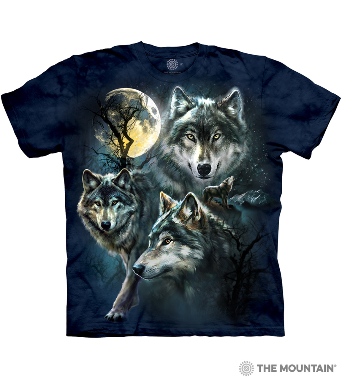 Moon Wolves Wolf T Shirt Adult Unisex The Mountain