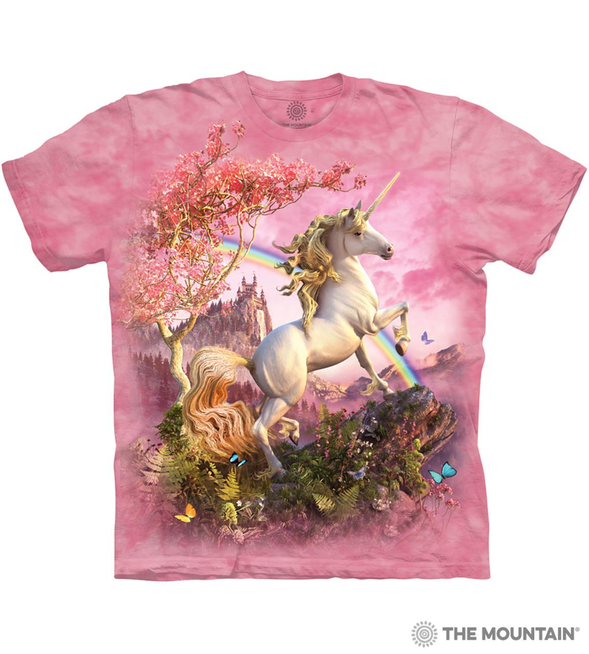 f46d0e2a6543 The Mountain Adult Unisex T-Shirt - Awesome Unicorn