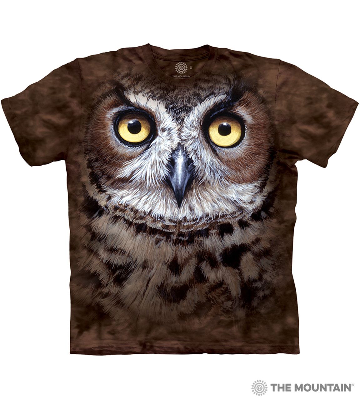1af43649 The Mountain Adult Unisex T-Shirt - Great Horned Owl Head