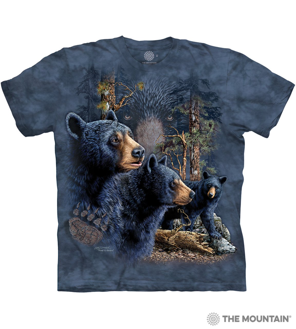Three Black Bears Collage Wilderness The Mountain T-Shirt All Sizes 3590