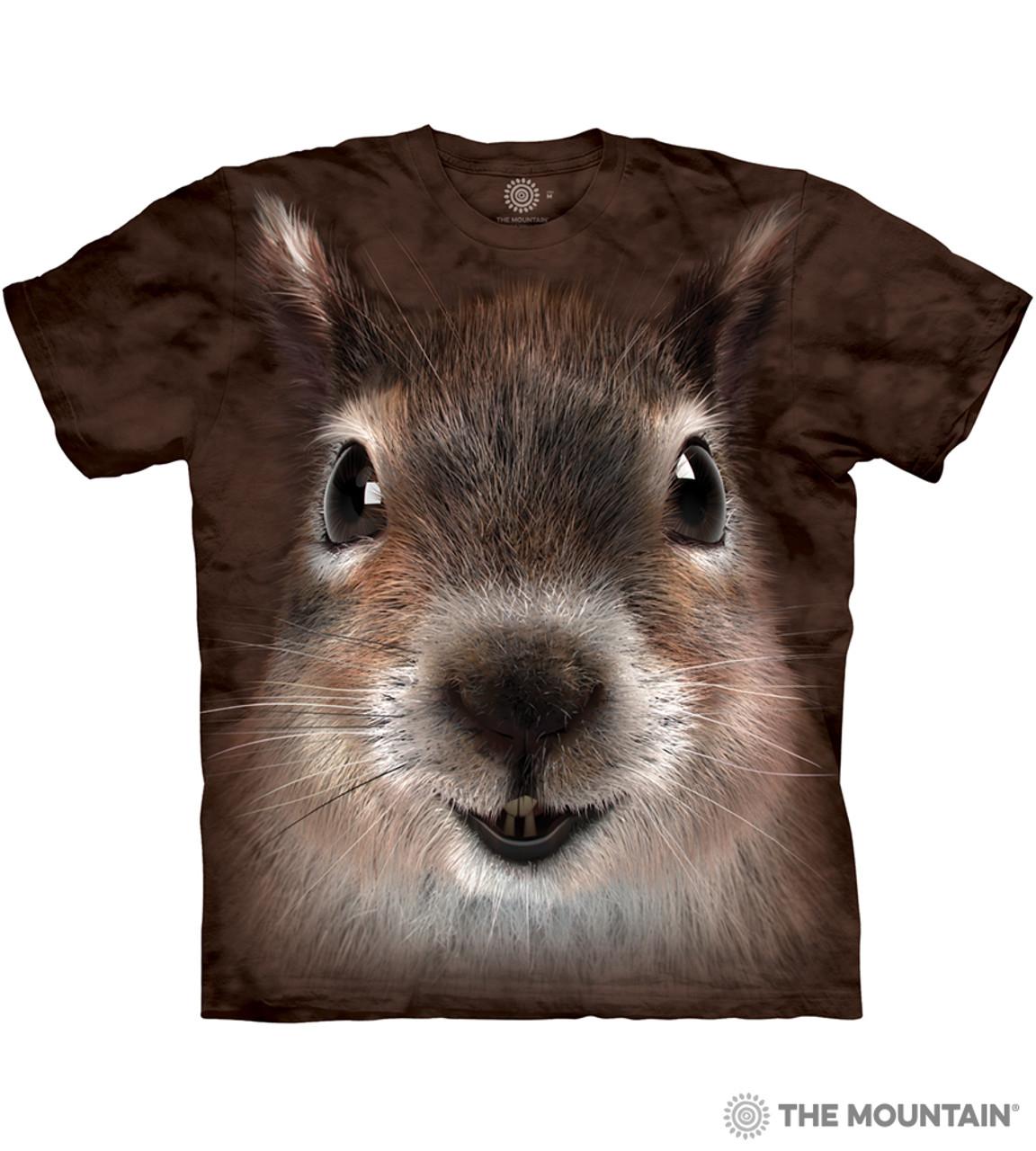b8c7b6d238fd The Mountain Adult Unisex T-Shirt - Squirrel Face