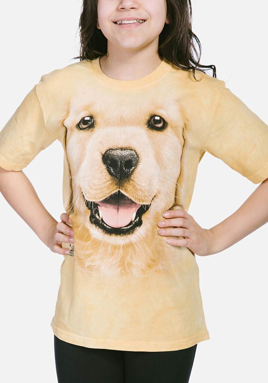 Golden Retriever Dog Kid/'s T-Shirt Children Boys Girls Unisex Top