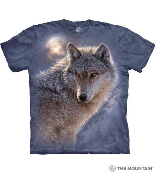 New The Mountain Wolf Face Youth T Shirt