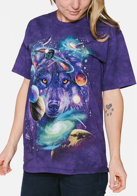 450bc84a1 The Mountain Adult Unisex T-Shirt - Wolf of the Cosmos