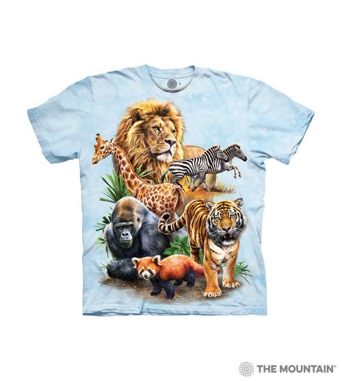 e4b2b0080455 The Mountain Kids  T-Shirt - Zoo Collage