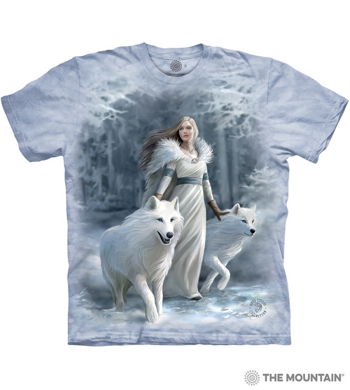 The Mountain Unisex Adult Soul Bond Anne Stokes Wolf T Shirt