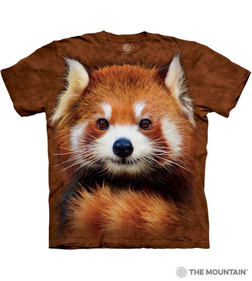 2ff624916 The Mountain Adult Unisex T-Shirt - Red Panda Portrait