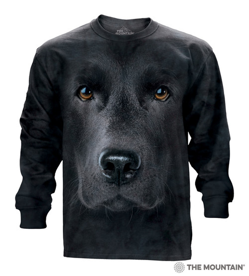 e70b71b40f64 The Mountain Adult Long Sleeve T-Shirt - Black Lab Face