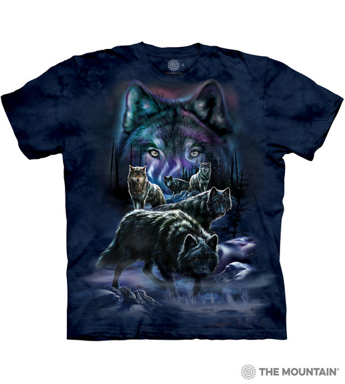 a5ee03e66bc8 The Mountain Adult Unisex T-Shirt - Wolf Pack