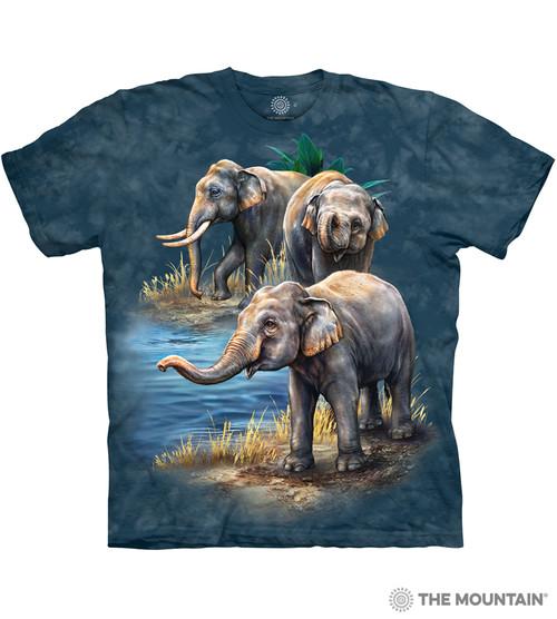3d4bd635f44 Asian Elephant Collage T-Shirt