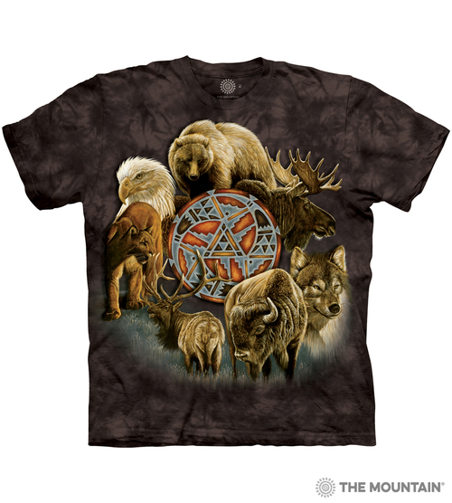 a1bb1d59833f The Mountain Made-to-Order T-Shirt - Animal Spirit Circle - MM