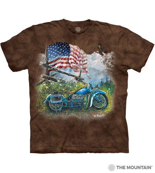 d79a734db2 The Mountain Adult Unisex T-Shirt - Biker Americana
