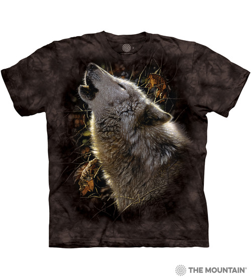 Native American Indian Wolf Howling Graphic T-shirts Tee