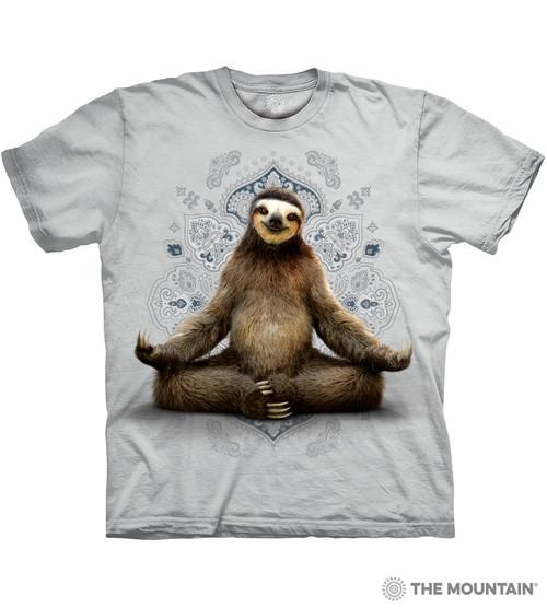 bcb3d76d2 The Mountain Adult Unisex T-Shirt - Vriksasana Sloth - Gray