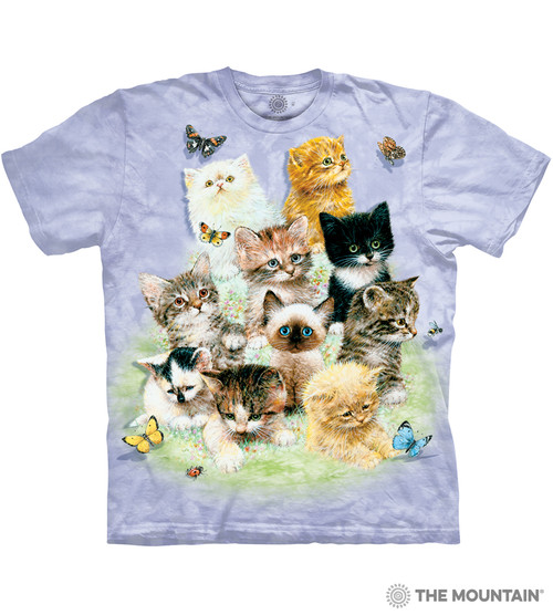 33050c6e7 The Mountain Adult Unisex T-Shirt - 10 Kittens