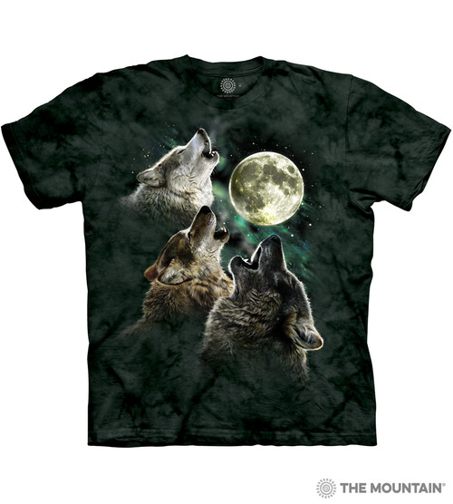 3f4aad41babaf0 The Mountain Adult Unisex T-Shirt - Three Wolf Moon Classic