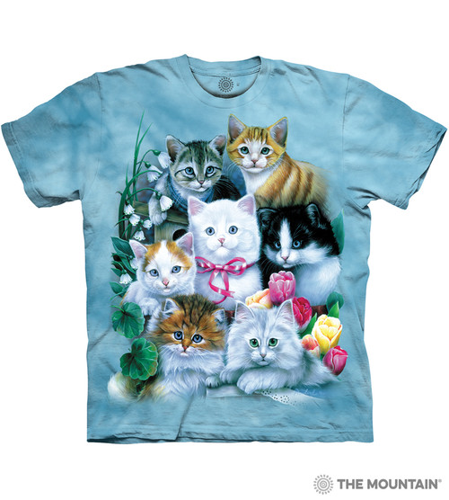 cb8075a2a14 The Mountain Adult Unisex T-Shirt - Kittens