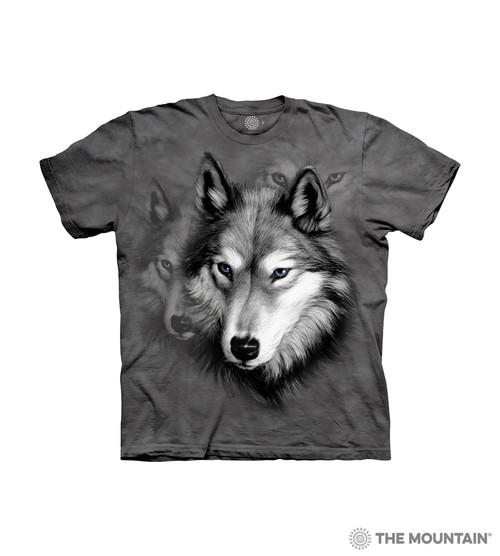 Yin Yang Wolves The Mountain 100/% Cotton Kid/'s T-Shirt Medium NWT