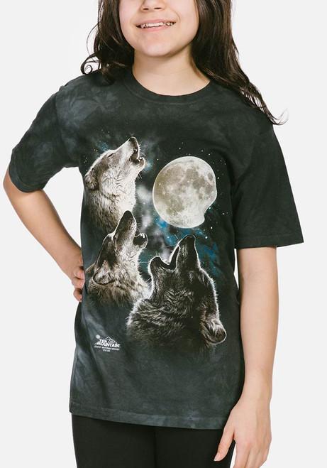 Kinder Tiermotiv T-Shirt Wolf