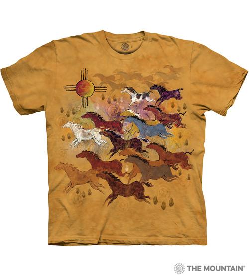 Girls HORSE Shirt~Peace Love /& Horses~Pink~Butterflies2