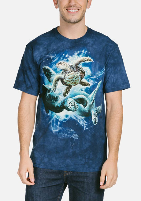 bac56802a The Mountain Adult Unisex T-Shirt - Sea Turtle Collage · Sea Turtle Collage  T-Shirt Modeled