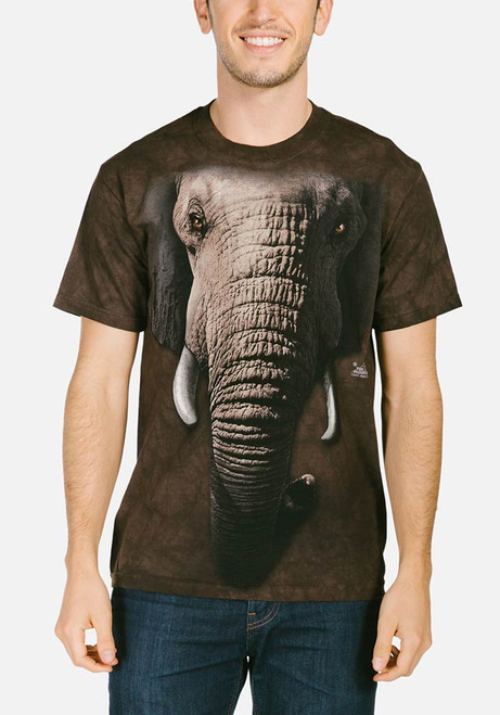The Mountain Unisex Adult African Elephant Animal T Shirt