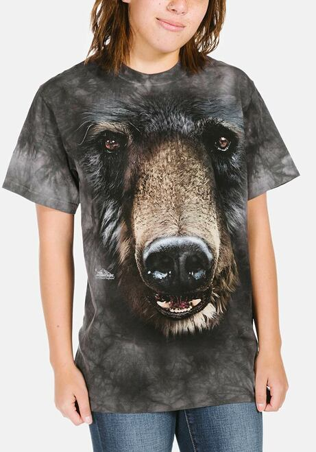 29bd9801 The Mountain Adult Unisex T-Shirt - Black Bear Face